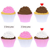 Set of cupcakes Royalty Free Stock Photo