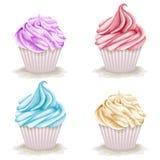 Set of cupcakes Stock Image