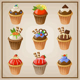 Set of cupcakes Royalty Free Stock Photography