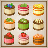 Set cupcakes. Royalty Free Stock Photography