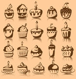 Set of  cupcakes, vector Stock Photography