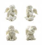 Set of cupid statue isolated on white background Royalty Free Stock Image