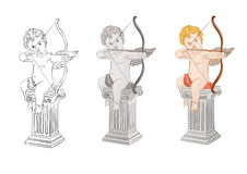 Set of cupids Stock Image