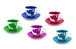 Set of cups Stock Photography