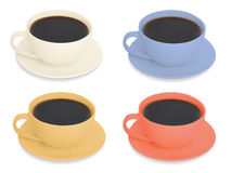 Set of Cups of coffee Royalty Free Stock Photos