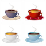 Set of cups Stock Image