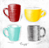 Set cups Royalty Free Stock Images