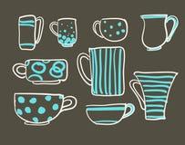 Set cups  Stock Photo