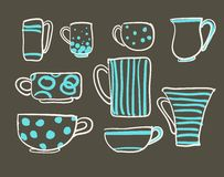 Set cups  Royalty Free Stock Photography