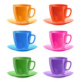 Cups with a saucers Royalty Free Stock Image