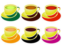 A set of cups of tea. Stock Image