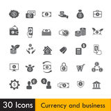 Set of Currency and business icon isolated on white background v Royalty Free Stock Photography