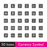 Set of Currency and business icon  on white background  Stock Photography