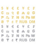 Set of currency signs Stock Images