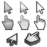 Set of cursor pointers Stock Photos
