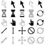 Set of cursors icons Stock Photos