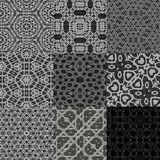 Set of curtain lace seamless generated textures Royalty Free Stock Images
