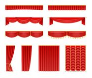 Set of curtains and draperies vector illustration
