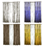 Set of curtains drawings sketch style Stock Photos