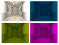 Set of curve wall Royalty Free Stock Images