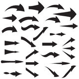 Set of curved arrow icons Vector illustration Stock Photography