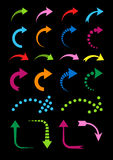 Set of curved arrows colorful Stock Image