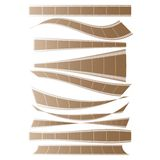 Set of curved films background vector Royalty Free Stock Photo