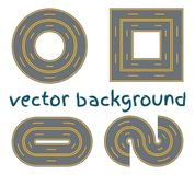 Set curved routes. royalty free illustration