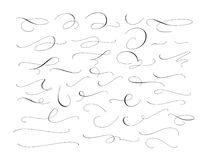 Set of custom decorative swashes and swirls, white on black. Great for wedding invitations, cards, banners, page Stock Photography