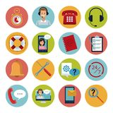 Set of customer service icons. Collection vector illustration graphic Royalty Free Stock Photos