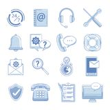 Set of customer service icons. Collection vector illustration graphic Stock Images