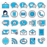 Set of customer service icons. Support service and telemarketing icon set royalty free illustration