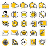 Set of customer service icons. Support service and telemarketing vector icon set Royalty Free Stock Photos