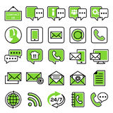 Set of customer service icons. Support service and telemarketing vector icon set stock illustration