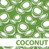 Set of Cut Coconut Background Vector Royalty Free Stock Photos