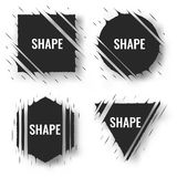 Set of cut geometric shapes. Strokes ripped effect. Shapes to for rip, slash, damage, torn effects. Vector illustration Stock Image