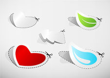 Set of cut out icons. Royalty Free Stock Image