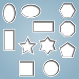 Set of 11 cut out shapes Royalty Free Stock Photo
