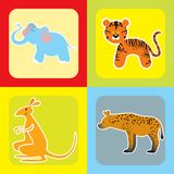 Set of cute african animals -2 Royalty Free Stock Images