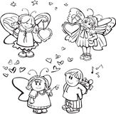 Set of cute angels for design Royalty Free Stock Image