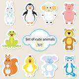 Set of cute animals - 1 Stock Photos