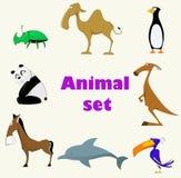 Set of cute animals Stock Image
