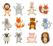 Set of cute animals Stock Photos