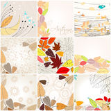 Set of cute autumn illustrations Royalty Free Stock Photo
