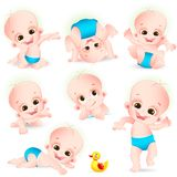 Set of Cute Baby Royalty Free Stock Photo