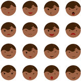 Set of cute baby emoticons. Royalty Free Stock Photo