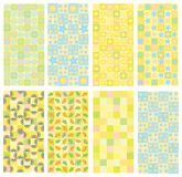 Set of cute backgrounds. Royalty Free Stock Image