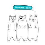 Set of Cute Bear . `The Bear Team!`. Set of Cute Bear. `The Bear Team!`. Vector illustration EPS 10 royalty free illustration