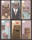 Set with the cute bears. Stock Images