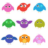 Set of cute birds Stock Photo